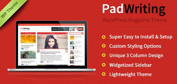 PadWriting - Magazine WordPress Theme