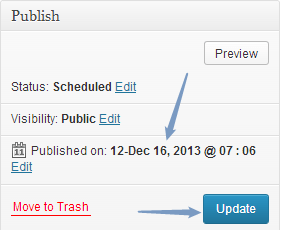 Scheduled a Blog Post in WordPress