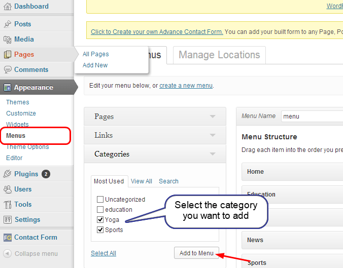 Menu setting theme best tutorial