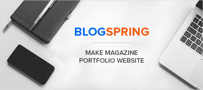 BlogSpring Magazine WordPress Theme Tutorial