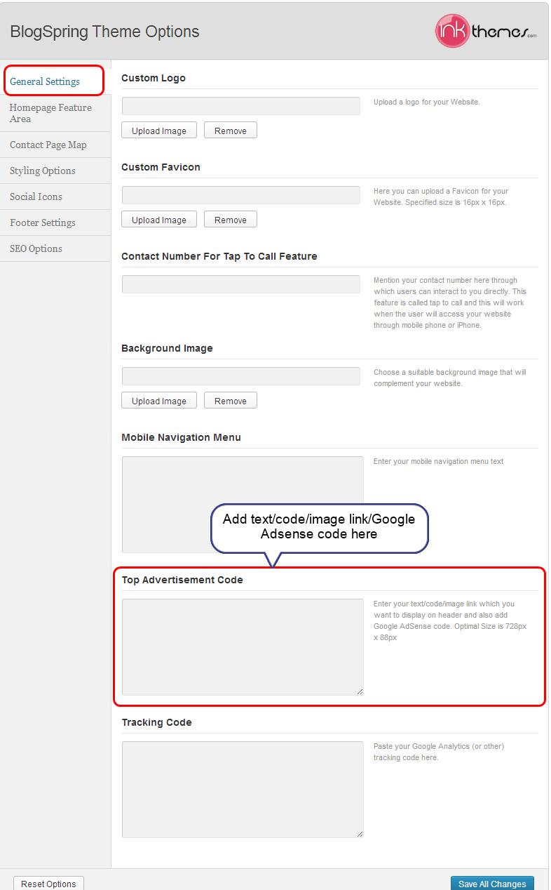 blogspring dashboard