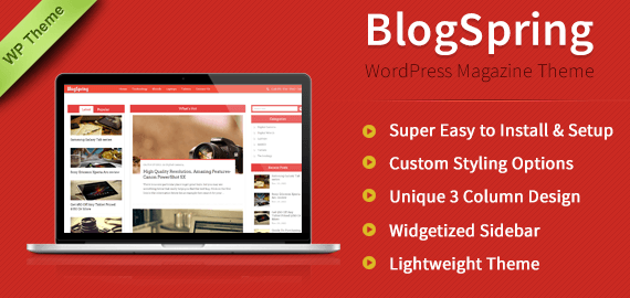 BLOGSPRING - WORDPRESS THEME FOR BLOGGING AND WP MAGAZINE