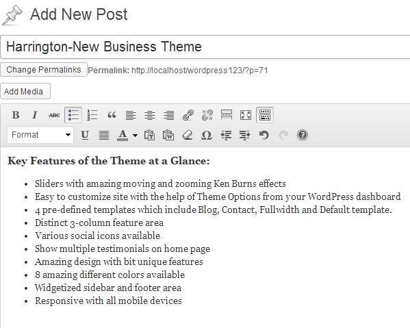 Add new post tutorial