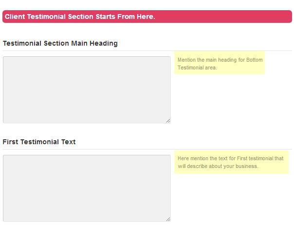 testimonial setting tutorial
