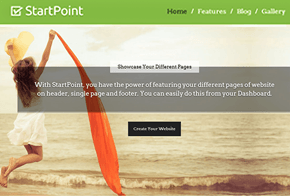 StartPoint Business One Page WordPress Theme