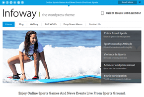 Infoway WordPress Theme with built in Lead Capture