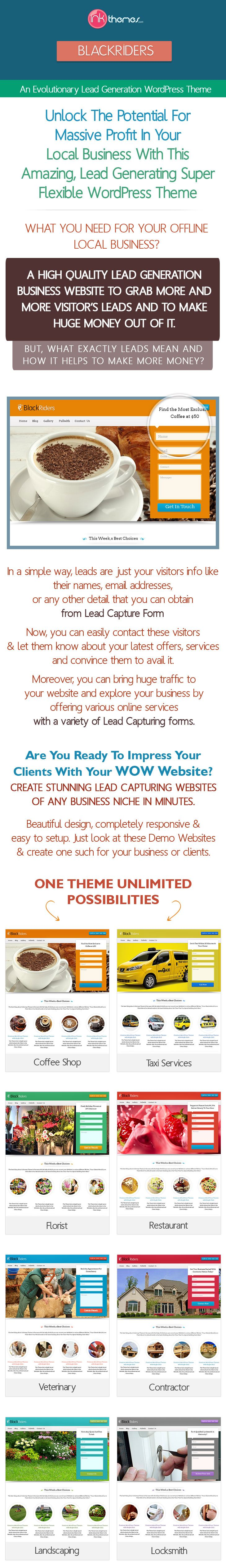 [GET] InkThemes Most POWERFUL Lead Capture WordPress Theme BLACKRIDERS