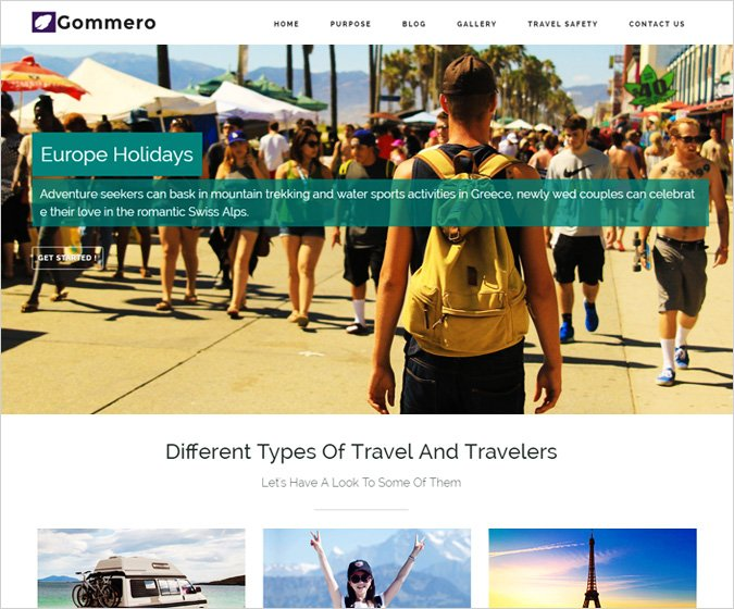 Gommero WordPress Theme
