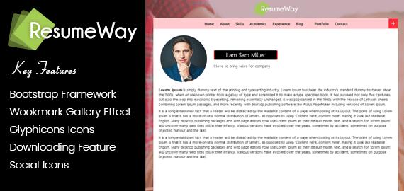 ResumeWay – WordPress vCard CV Theme To Build a Resume Website