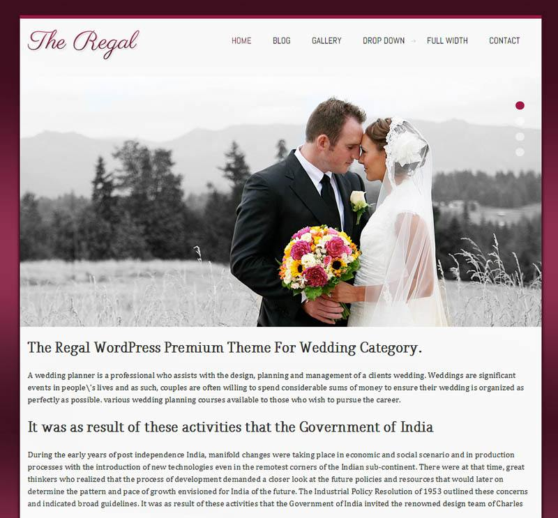regal - free wordpress theme