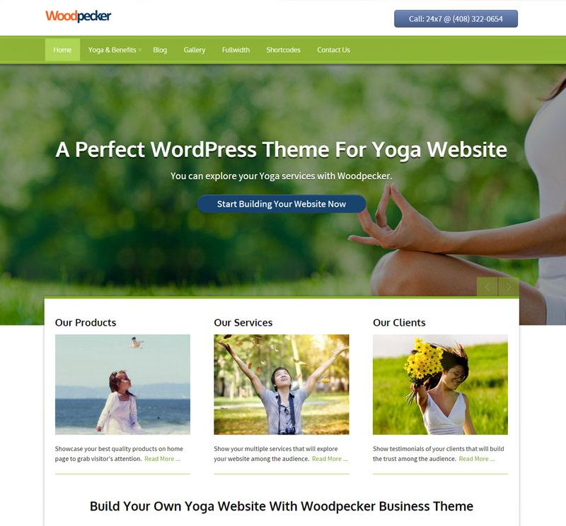 woodpecker - free wordpress theme