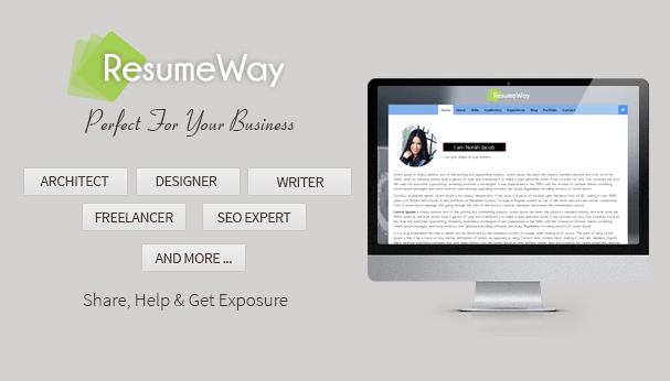 ResumeWay WordPress Portfolio Theme