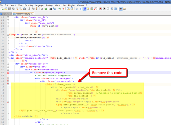remove unnecessary codes