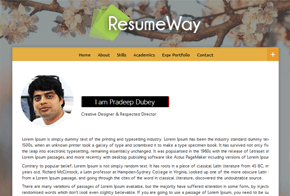 ResumeWay for Personal Portfolio