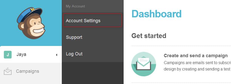 Account settings