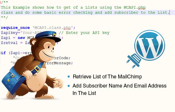 Get the mailchimp list data