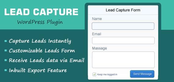 Custom Lead Generation Form Maker WordPress Plugin