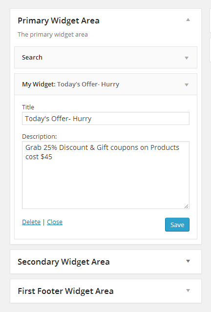 create wordpress easy custom widget