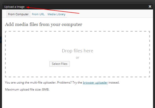 upload a image option