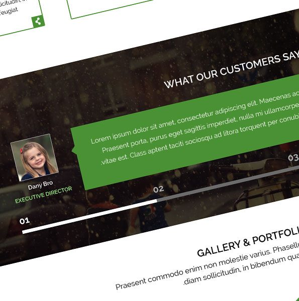 prime one page business theme layout