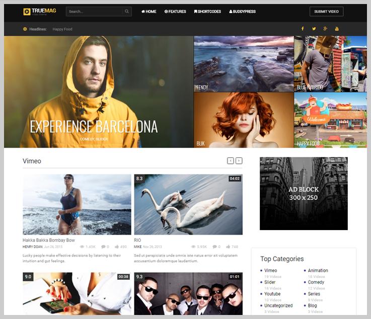 True Mag - Free Responsive Video WordPress Themes