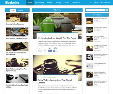 BlogSpring - WordPress Theme For Blogging and WP Magazine Sites