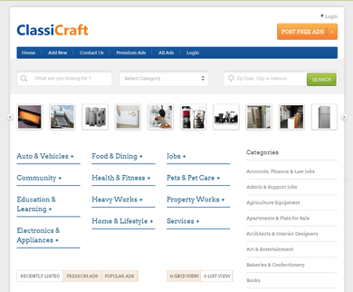 ClassiCraft - WordPress Classified Theme