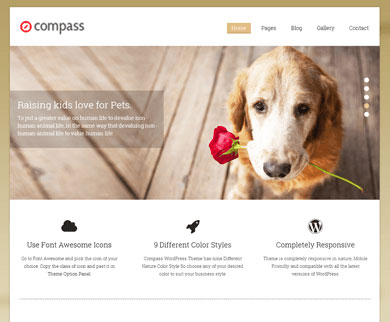 Compass - WordPress Theme With Five Featured Content Slider