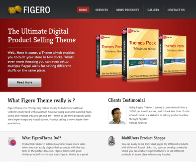 Figero - Single Product WordPress Theme