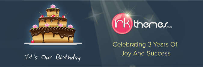 Happy Birthday InkThemes- Celebrating 3 Years of Success!