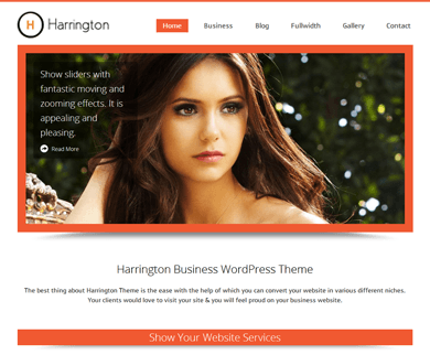 Harrington WordPress Business Theme
