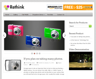 Rethink - WordPress Review Theme