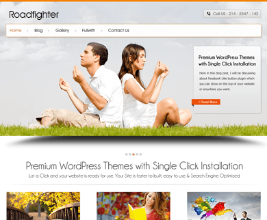 RoadFighter - Full Width Slider WordPress Theme