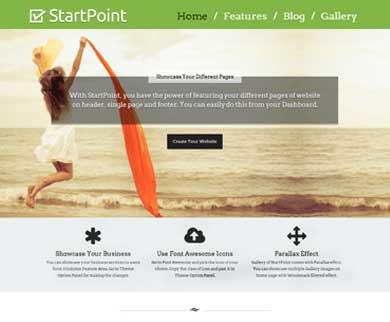 StartPoint - Single Page WordPress Theme