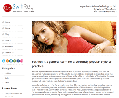 SwiftRay Premium WordPress Theme