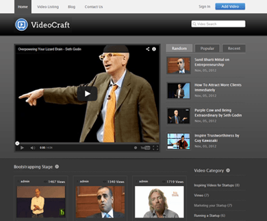 VideoCraft WordPress Video Theme