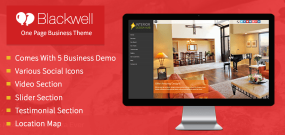 BLACKWELL - WORDPRESS THEME FOR INTERIOR DECORATION BUSINESS SITES