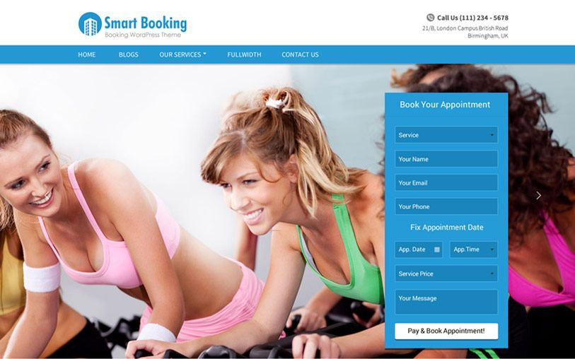 SmartBooking WordPress Theme Documentation
