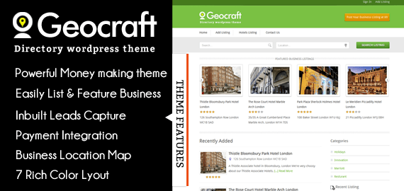 GEOCRAFT V2 - BUSINESS DIRECTORY WORDPRESS THEME