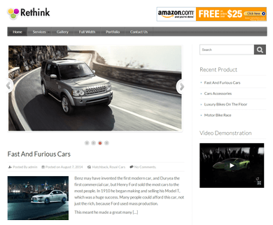 ReThink v2  - WordPress Review Theme