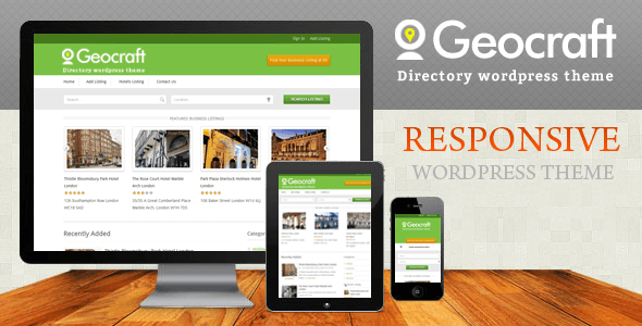 Geocraft Business Directory Listing Wordpress Theme