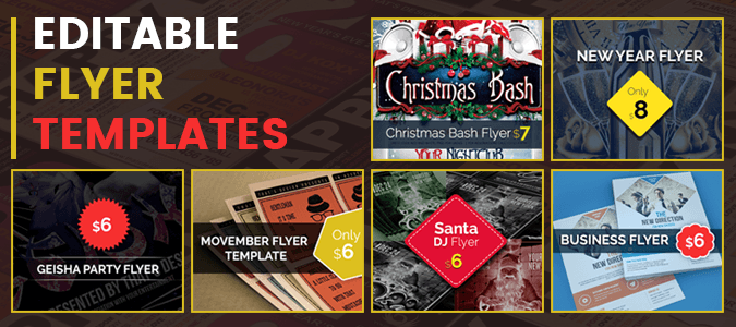 6 Useful Flyer Templates for New Year and Christmas Events