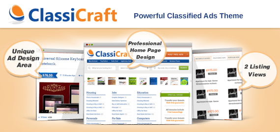 ClassiCraft – WordPress Classified Ad Listing Theme