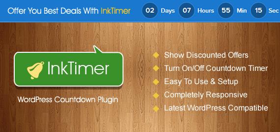 InkTimer – Countdown WordPress Plugin