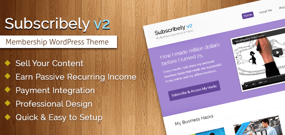 Subscribely v2 – WordPress Membership Theme
