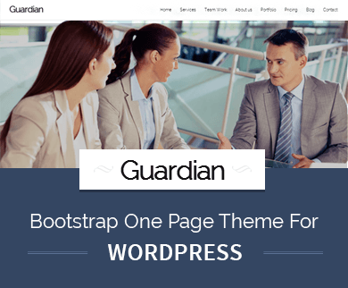 Guardian - Bootstrap Built Full Page WordPress Theme