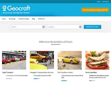 GeoCraft V2 - City Business Directory WordPress Theme