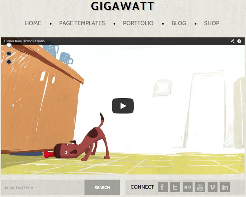 GigaWatt - video wordpress theme