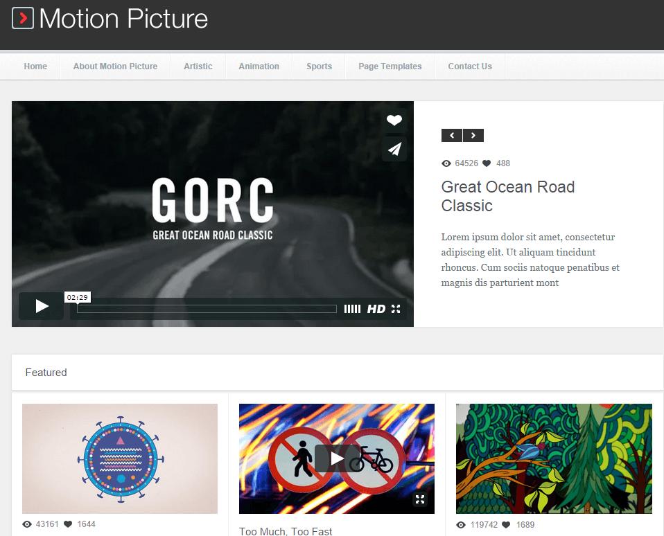 gorc - video wordpress theme