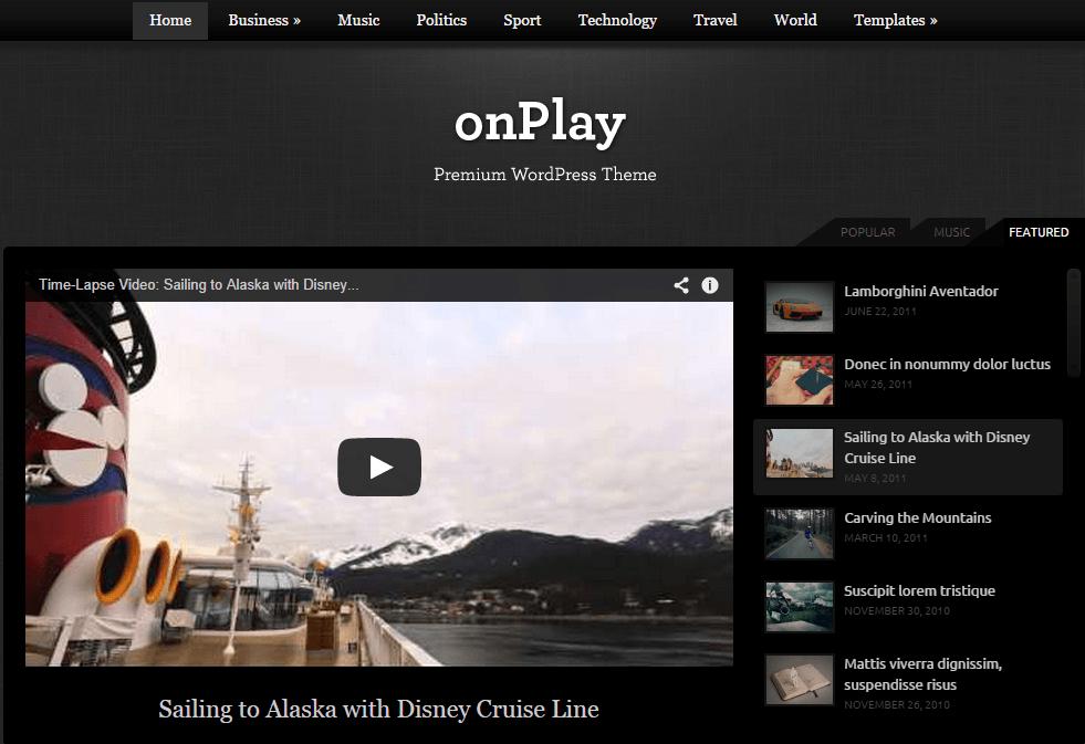 onplay - video wordpress theme